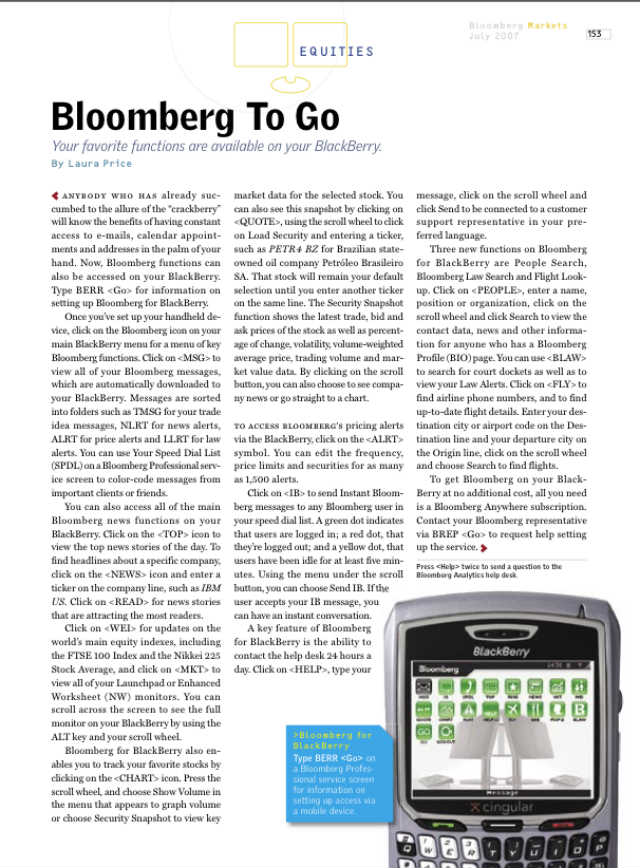 Bloomberg to go