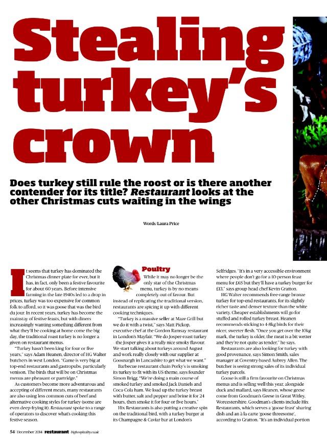 Stealing turkey's crown